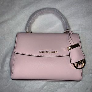 Michael Kors Soft Pink Saffiano Leather Crossbody